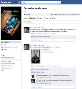 De Facebookpagina van De vader en de zoon